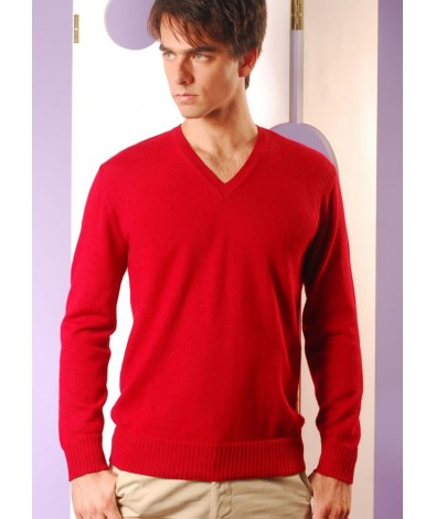 Alpaca Sweater for Men with a V Neck
