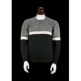 Alpaca Sweater for Men with a Round Neck