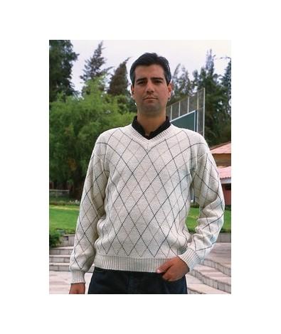 V Neck Alpaca Sweater