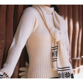 Ribbed Alpaca sweater with turtle neck