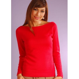 Alpaca oval neck sweater