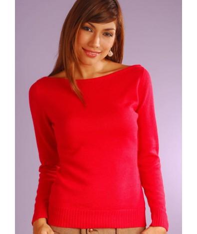Alpaca oval neck sweater