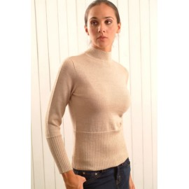 Alpaca sweater with crew neck and long sleeve