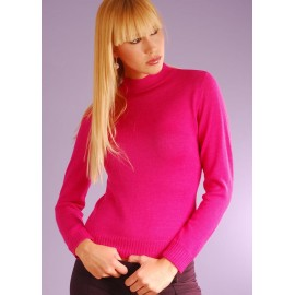 Alpaca sweater with mock neck