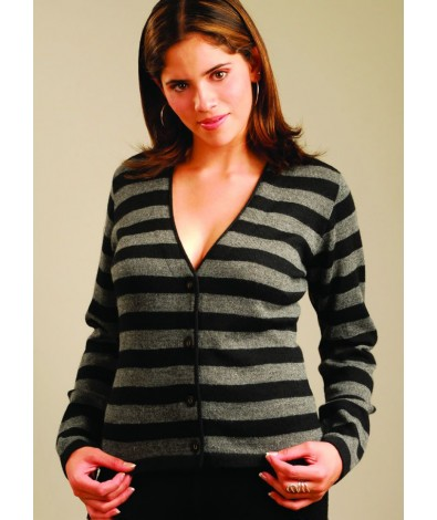 Striped Alpaca Cardigan