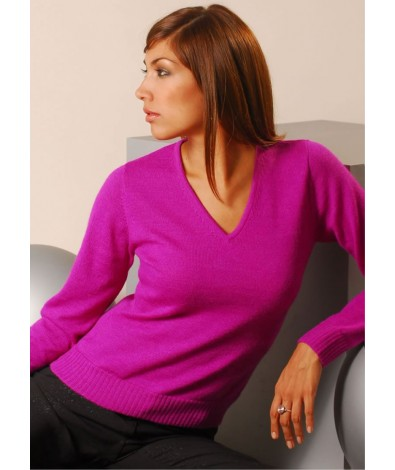 V Neck Alpaca Sweater
