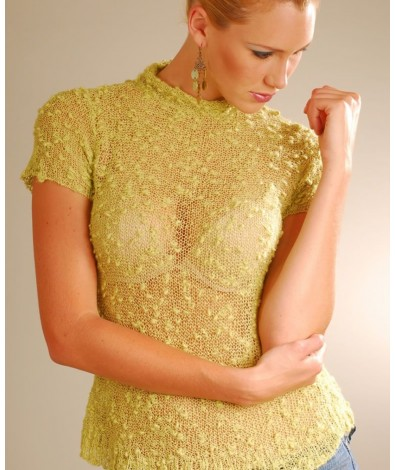 Lady Boutone Top With Short Sleeves