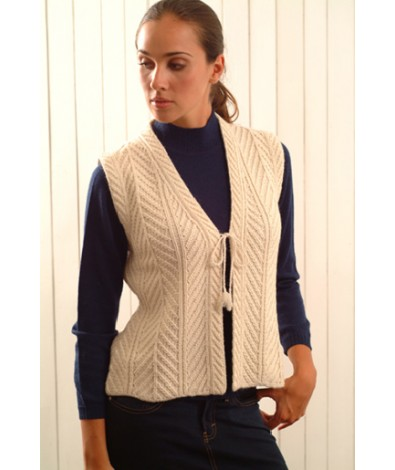 Lady Vest With Ties
