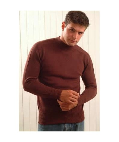 Sweater with Hammer Sleeves and Crew Neck