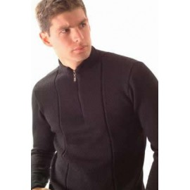 Men's sweater with short zipper