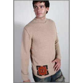 Alpaca mock neck sweater