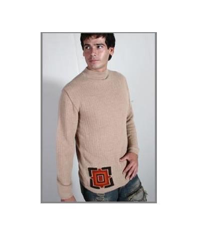 Alpaca mock neck sweater