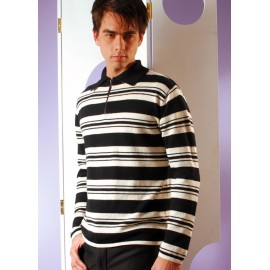 Men's sweater with half zipper