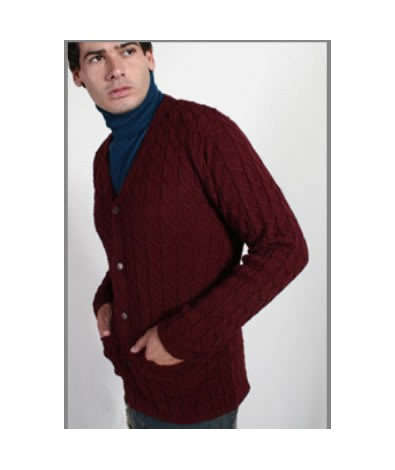 Cardigan sweater with buttons