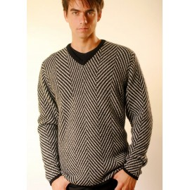 Mens Herringbone Sweater