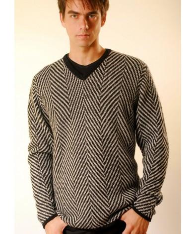 Mens Herringbone Sweater
