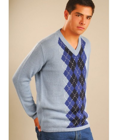 Scottish Sweater with a V Neck