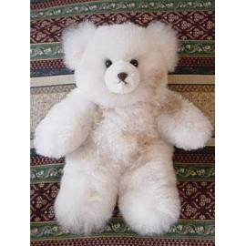 White Alpaca Teddy Bear 12""